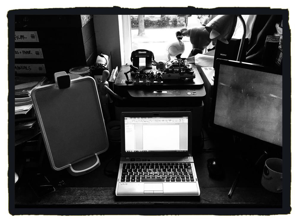 Writer's desktop
